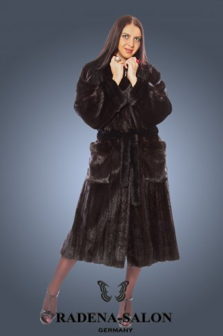 NW-2877  норковая шуба  BLACK EXELEND Mink  (Америка)
