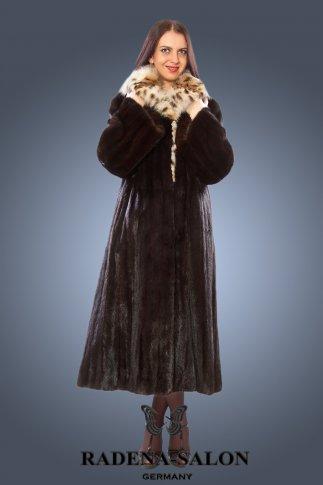 NW-2879  норковая шуба с мехом рыси von SAGA FURS (Италия)